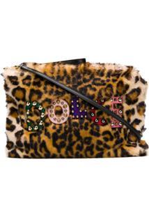 Dolce & Gabbana Clutch Animal Print - Marrom
