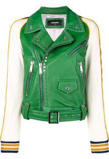 Dsquared2 Jaqueta Contrastante Com Tachas - Green