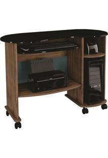 Mesa Para Computador Alagoas Cor Nobre Com Preto - 23413 - Sun House