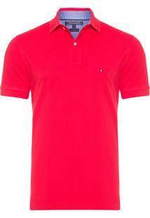 Polo Masculina Knit - Vermelho