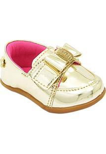 Sapato Iate Pé Com Pé - Feminino-Dourado