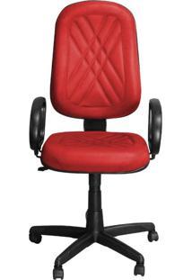Cadeira Pethiflex Pp-02Gpbp Giratória Couro Vermelho