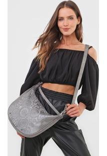 Bolsa Transversal Shoulder Bag Majestic Prata - Prata - Feminino - Dafiti