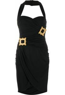 Moschino Vestido Com Drapeado - Preto