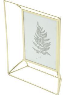 Porta Retrato Com Detalhes Vazados- Dourado- Tamanhourban