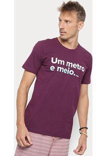 Camiseta Redley Silk Um Metro E Meio Masculina - Masculino-Roxo