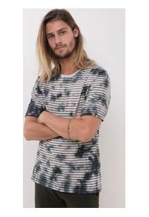 Camiseta Listrada Tie Dye