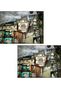 Jogo Americano Colours Creative Photo Decor - Vista Do Morro Da Providência No Rio De Janeiro, Rj - 2 Peças