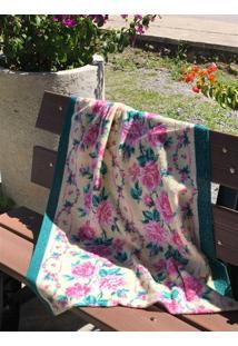 Toalha De Banho Paraty - Bege Floral