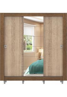 Guarda-Roupa Campos Rustic Com Pés 3 Portas 1 Espelho Madesa