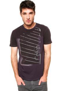Camiseta Calvin Klein Jeans Manga Curta Faixa Cinza