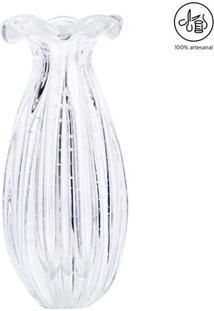 Vaso Texturizado- Incolor- 20Xø10Cm- Cristais Sãcristais São Marcos