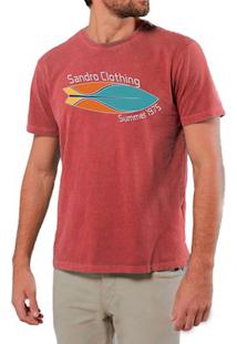 Camiseta Masculino Sandro Clothing Prancha Vermelha Estonada