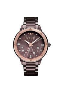 Relógio Technos Feminino Crystal Roxo Analógico 2039Cf4G