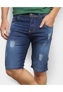 Bermuda Jeans Bnb Masculino - Masculino-Azul