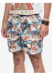 Short Tropical Azul 400065