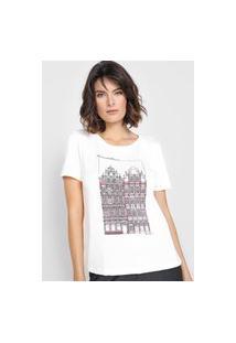 Camiseta Dudalina Estampada Off-White