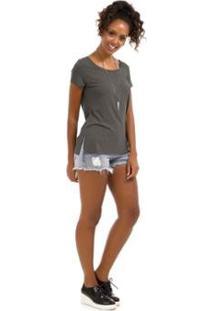 Blusa Plus Size Rovitex Premium - Feminino-Cinza