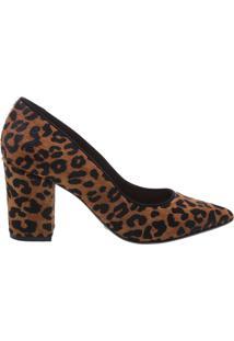 Scarpin Block Heel Animal Print | Schutz