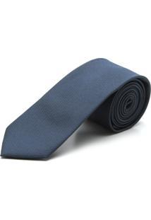 Gravata Sergio K Slim Texturizada Azul