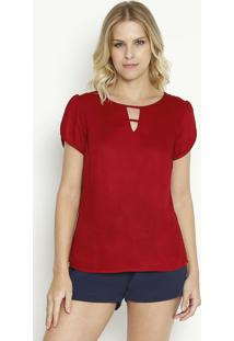Blusa Com Vazado Frontal - Vermelhavip Reserva