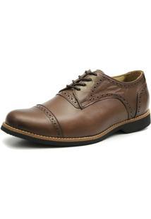 Sapato Oxford - Masculino-Marrom