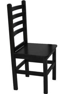 Cadeira Fixa Com Encosto Anatômico Em Madeira Maciça - Verniz