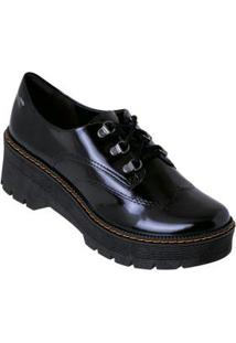 Sapato Oxford Dakota Preto Em Material Sintético