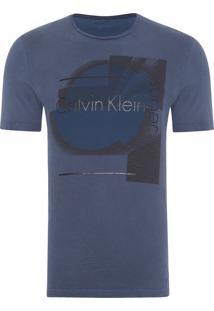 Camiseta Masculina Ckj Estampa E Costas Flame - Azul