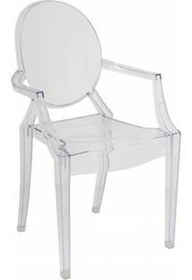 Cadeira Ghost Transparente Com Braço - Deghtr-1201