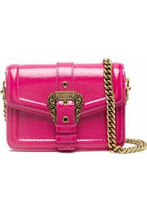 Versace Jeans Couture Bolsa Transversal Couture 1 Com Fivela - Rosa