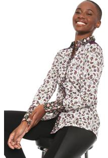 Camisa Desigual Konya Roxa/Branca