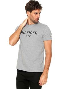 Camiseta Tommy Hilfiger Hilfiger Nyc Cinza
