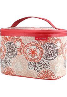 Nécessaire Frasqueira Com Tag- Vermelha & Bege- 15X2Jacki Design