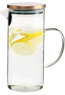 Jarra De Vidro Com Tampa Para Agua Ou Suco 1,3 Litros
