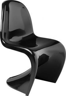 Cadeira Panton Brilhante (Abs) - Preto