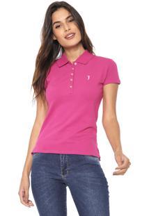 Camisa Polo Aleatory Básica Rosa