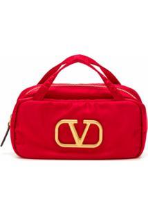 Valentino Garavani Necessaire Com Logo - Vermelho