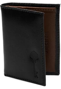 Carteira Key Design - Wallet Black - Masculino-Preto