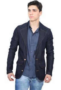Blazer Jeans Azul Dark Victor Deniro