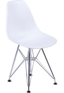Cadeira Eames Base Cromada Branca