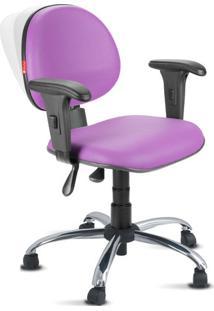 Cadeira Ergonômica Nr17 Lisa Premium Executiva Lilás