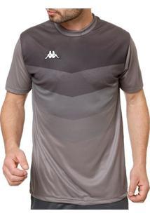 Camiseta Esportiva Masculina Kappa Cinza