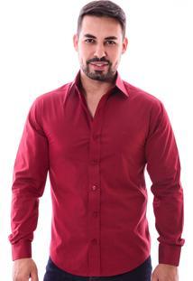 Camisa Pazan Slim Fit Marsala