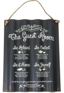 Placa Decorativa The Guest Room