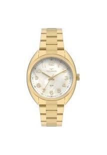 Relógio Technos Feminino Dourado Analógico 2036Mlas4X