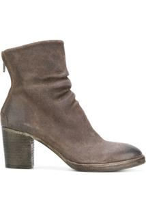 The Last Conspiracy Ankle Boot Com Zíper - Marrom