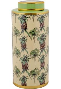 Vaso Decorativo De Porcelana Salvaterra - Linha Pineapple