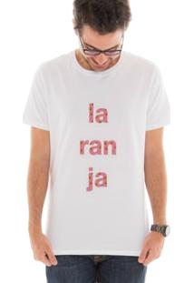 Camiseta Manga Curta Touts Laranja Pink Branco