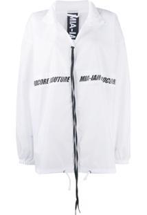 Mia-Iam Splash Zipped Jacket - Branco